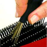 mango herramientas de belleza limpieza cepillo de plástico peine