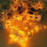 100 LED 10m cuerda amarilla luz de la decoración para la Navidad 110v 220v