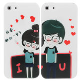 Sweetest Cartoon Lovers Pattern Relief Protective Case For iPhone 5 5G