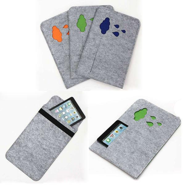 Waterdrop Pattern Sleeve Woolen Felt Case Bag For 11.6 Inch Tablet