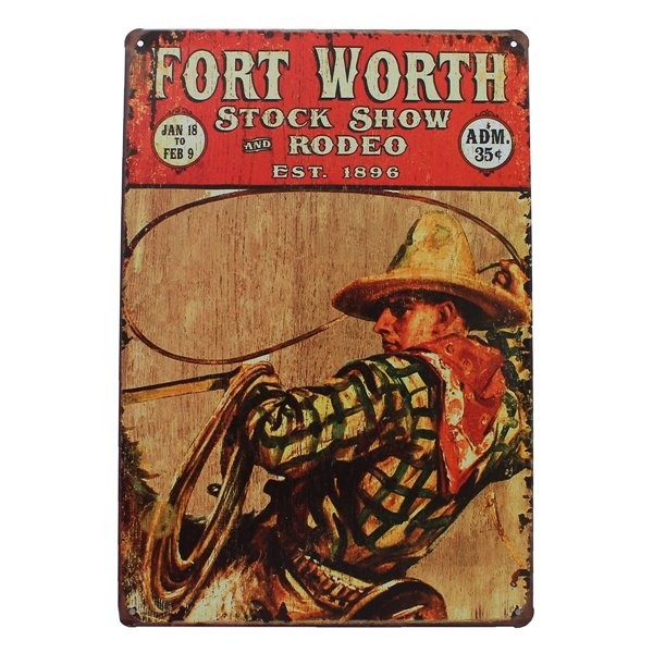 Fort Worth Tin Sign Vintage Metal Plaque Bar Pub Home Wall Decor At Banggood Sold Out