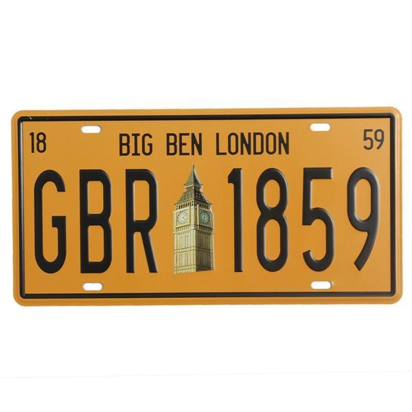 빅 벤 런던 번호판 주석 기호 빈티지 금속판 포스터 바 펍 홈 벽 장식