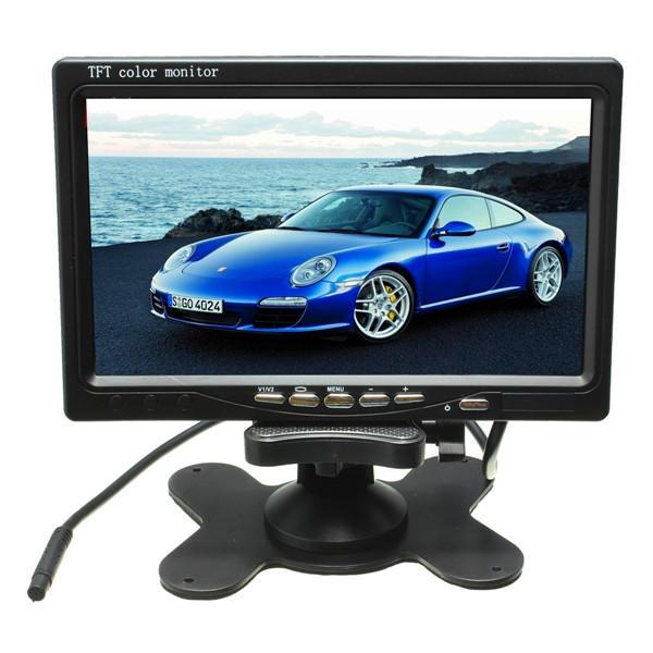 7 inç LCD Monitör + IR 18LED Ters Yedekleme Kamera Arkadan Görünüm Kit Kamyon Otobüsü RV için