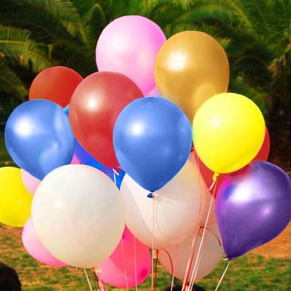 100pcs de la boda del globo festival de cumpleaños globo globos de látex partido perla perlas