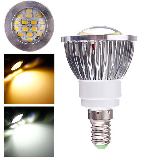 E14 6W AC 220V 16 SMD 5630 White/Warm White LED Spotlightt Bulbs