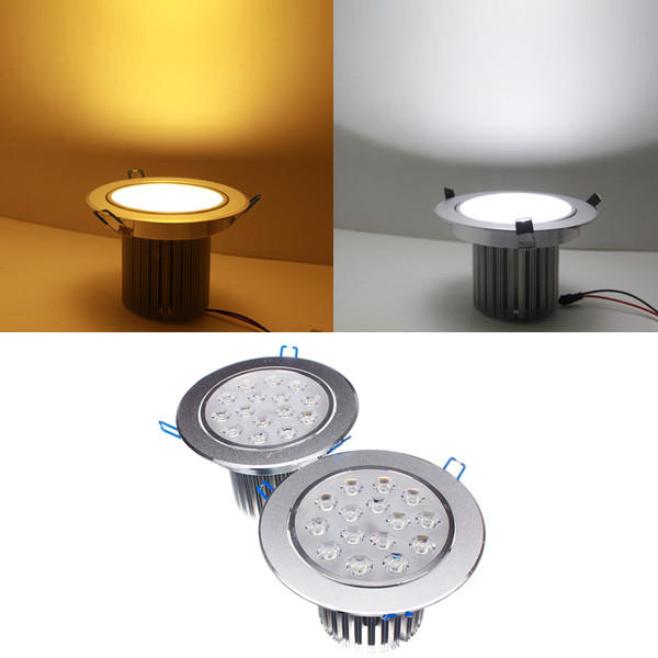 15W Dimmable Bright LED Recessed Ceiling Down Light 85-265V
