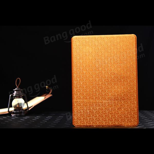 Grano laberinto caso del cuero del soporte delgado folio estilo de libro para ipad aire 2