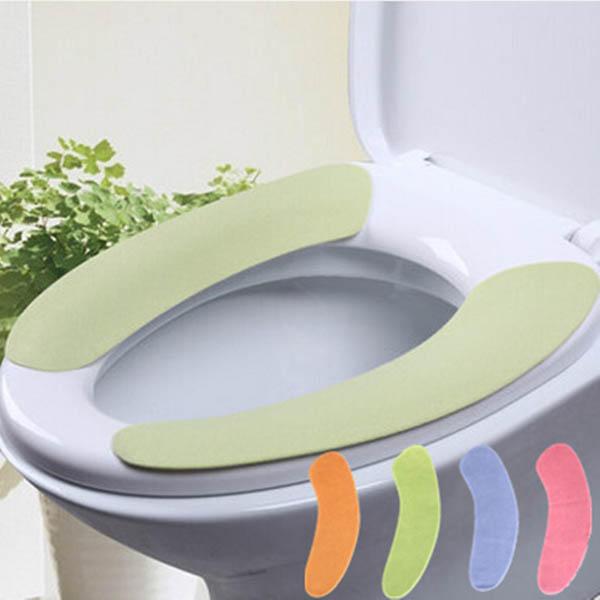 1 Par Soft Cuarto de baño Cubierta de asiento de inodoro Lavable Closestool Mat