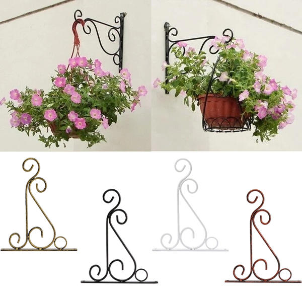 Classic Romantic Wrought Iron Flower Stand Hook Wrought Iron Plants