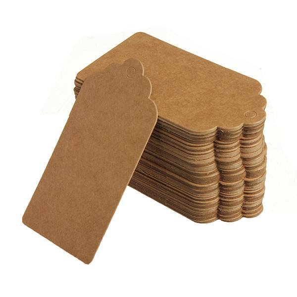 100 Kraft Paper Gift Tags 웨딩 라벨 Baking Listed Blank Tag