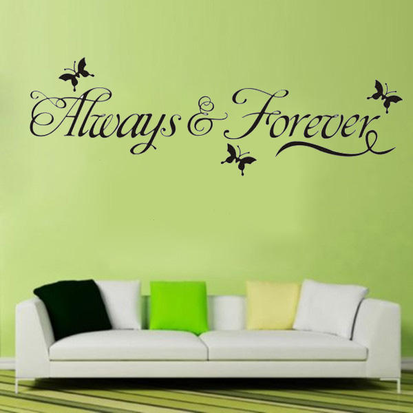 DIY Always & Forever Butterfly Removable Art Vinyl Wall Sticker Mural Decor