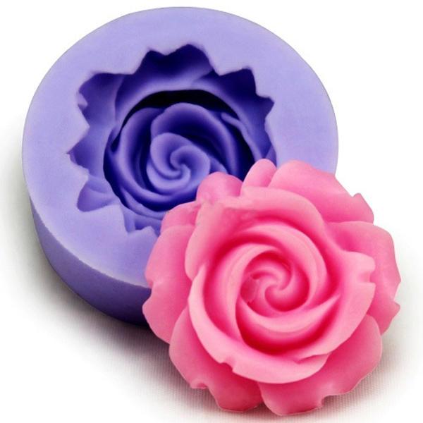 3D Silicone Rose fondant moule Pasrty Cake décoration moule Baking Tool Bakeware