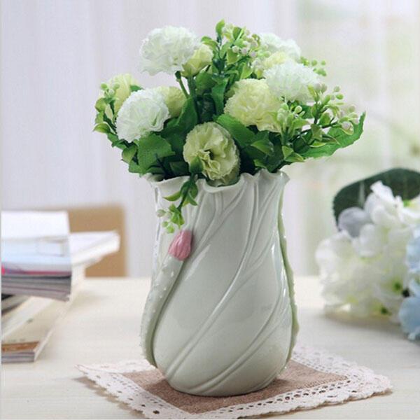 Fleur simple feuille de lotus frais c ramique plumier d coration d 39 ameublement chez banggood - Entrepot ceramique decor ...