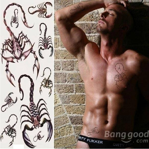 Other Warehouse. Send me a coupon on Messenger. Scorpion Totem Design Insect Waterproof Temporary Tattoo Sticker ...