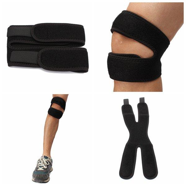 2PCS Adjustable Knee Patella Tendon Support Brace Strap Guard