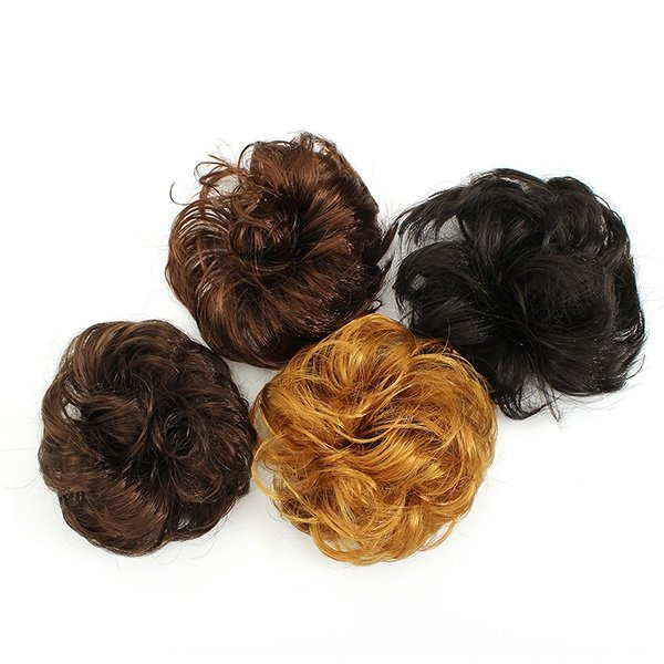 synthetic hair scrunchie hairpiece updo ponytail holder at Banggood sold out 7935043fd80