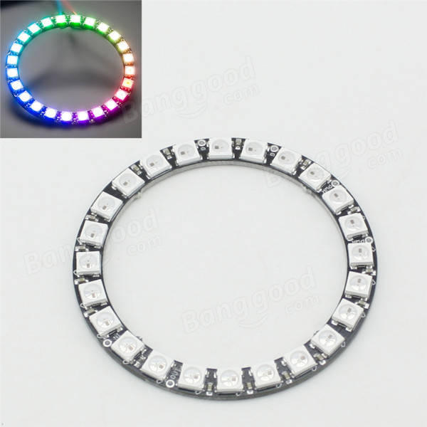 New LED Ring 24 x WS2812 5050 RGB LED with Integrated Drivers
