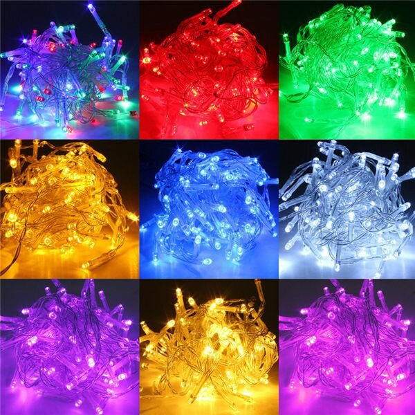 5M แบตเตอรี่ Powered LED Funky ON ไฟกระพริบไฟ Fairy String
