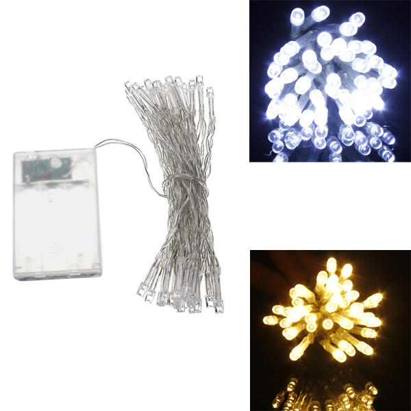 aa battery mini 40 leds coolwarm white christmas string fairy lights