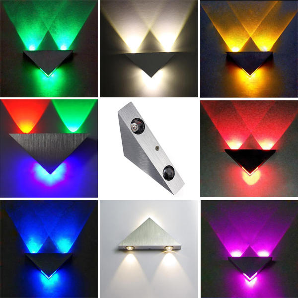 20312cf54 modern high power 3w led triangle decoration wall light sconce spot ...