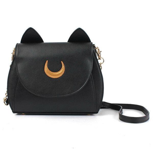 Sweet Women s Crossbody Bag Cat Shoulder Bags With Moon Print and Ear  Pattern Design COD da11cf3cf16e6