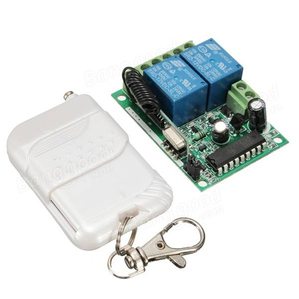 DC 12V 10A Relay 2CH Wireless RF Remote Control Switch Transmitter With Receiver