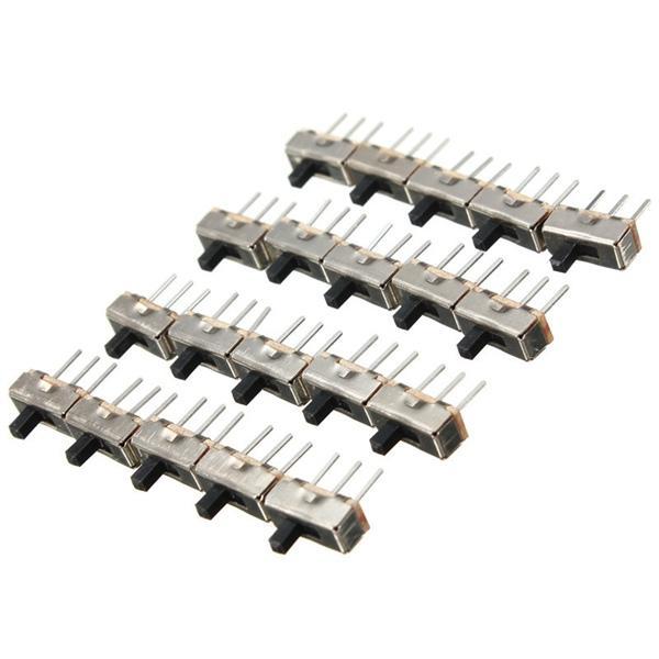 20pcs SS12D00G3 2 Position SPDT 1P2T 3 Pin PCB Panel Mini Vertical Slide Switch