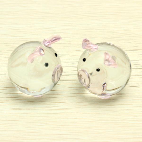 Cristal pareja de cerdos cerdo lindo ornamento amantes regalos afortunados del cerdo