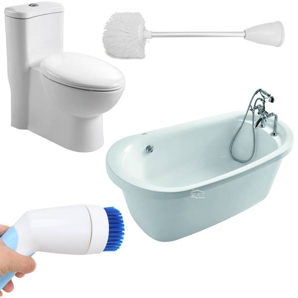 Toilet Cleaner Electric Handle Scrubber Brush Bathtub Recycle Charge Holders Battery Bathroom Water Wash Tidy