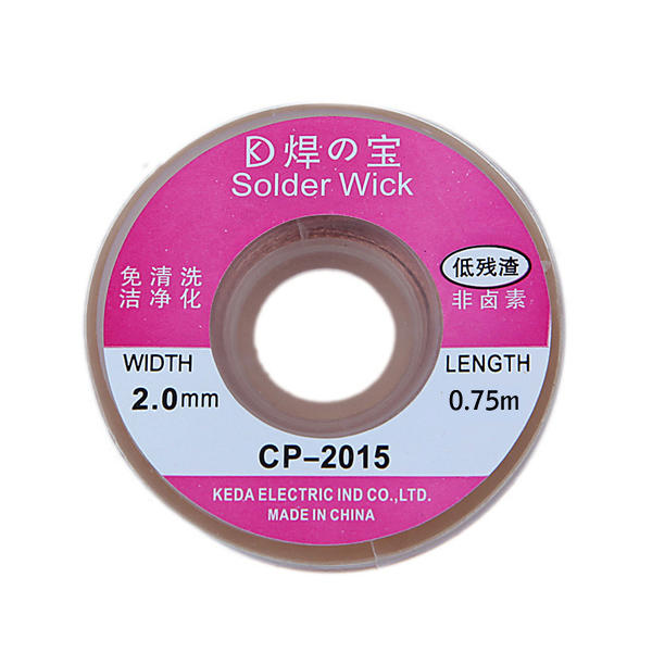 75cm 2.0mm Treccia dissaldante Cavo per Rimozione di Saldatura CP-2015