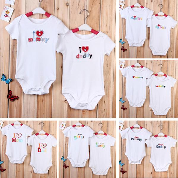 a60eca46 Baby Infant Newborn Cotton Love Mom Dad Romper Clothes Jumpsuit - 18-24M 01  COD