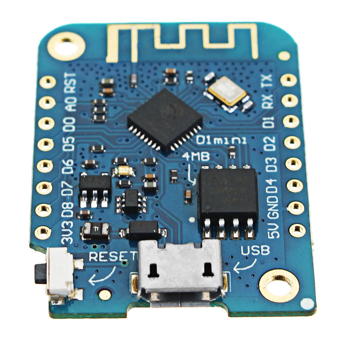 3pcs Wemos® D1 Mini V3.0.0 Basé sur une carte de développement pour l'Internet des objets WIFI ESP8266 Compatible 4Pa