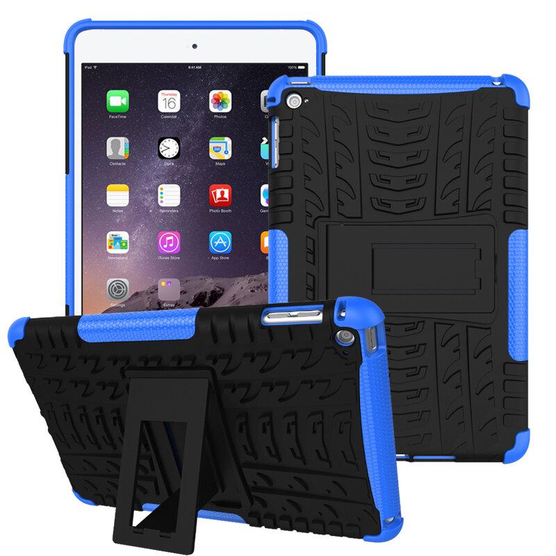 Soporte rígido de disipación de calor de alta resistencia con textura Caso para iPad Mini 4