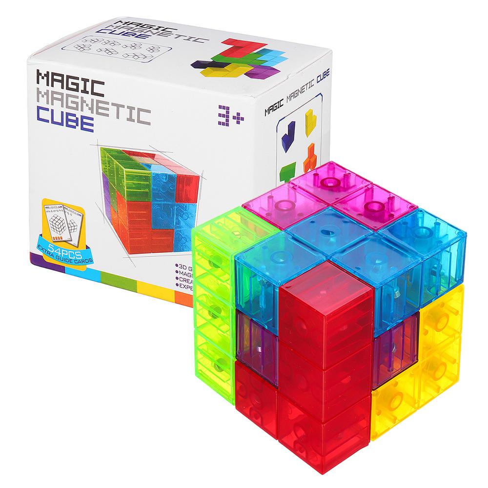 MoFun Magnetic Toys 3D Magia Fidget Cube Blocks Toys DIY Building Model Toy
