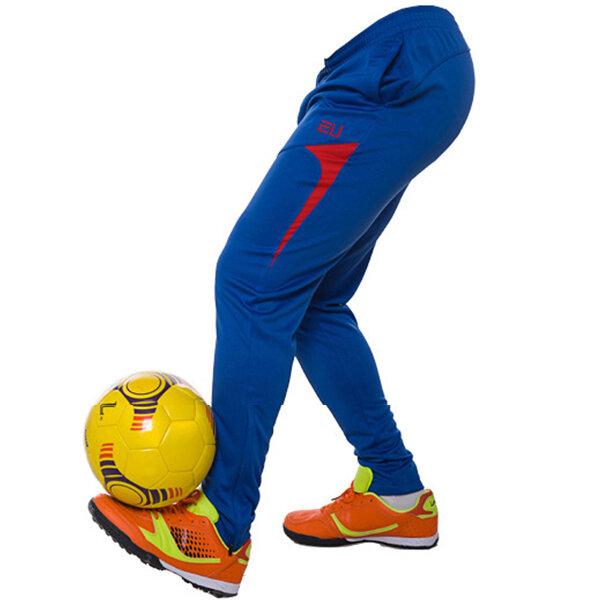 Pantaloni Casual per Fare Sport Esercizio Giocare Calcio Correre Vita Elastica da Uomo