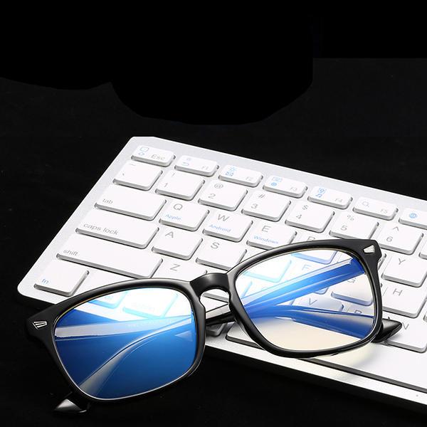 Anti-fatigue ordinateur miroir lunettes de protection contre les radiations bleu lumière bloquant des lunettes hommes femme