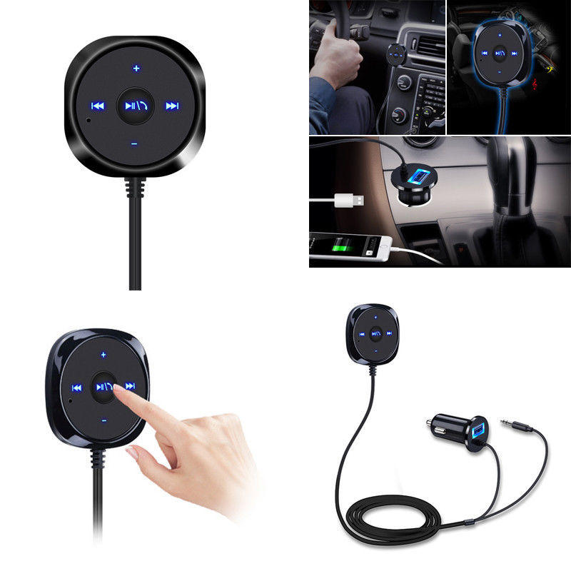 BC20 Wireless bluetooth Receiver 3.5mm AUX Audio Music Receiver 5V 2.1A Car Charger