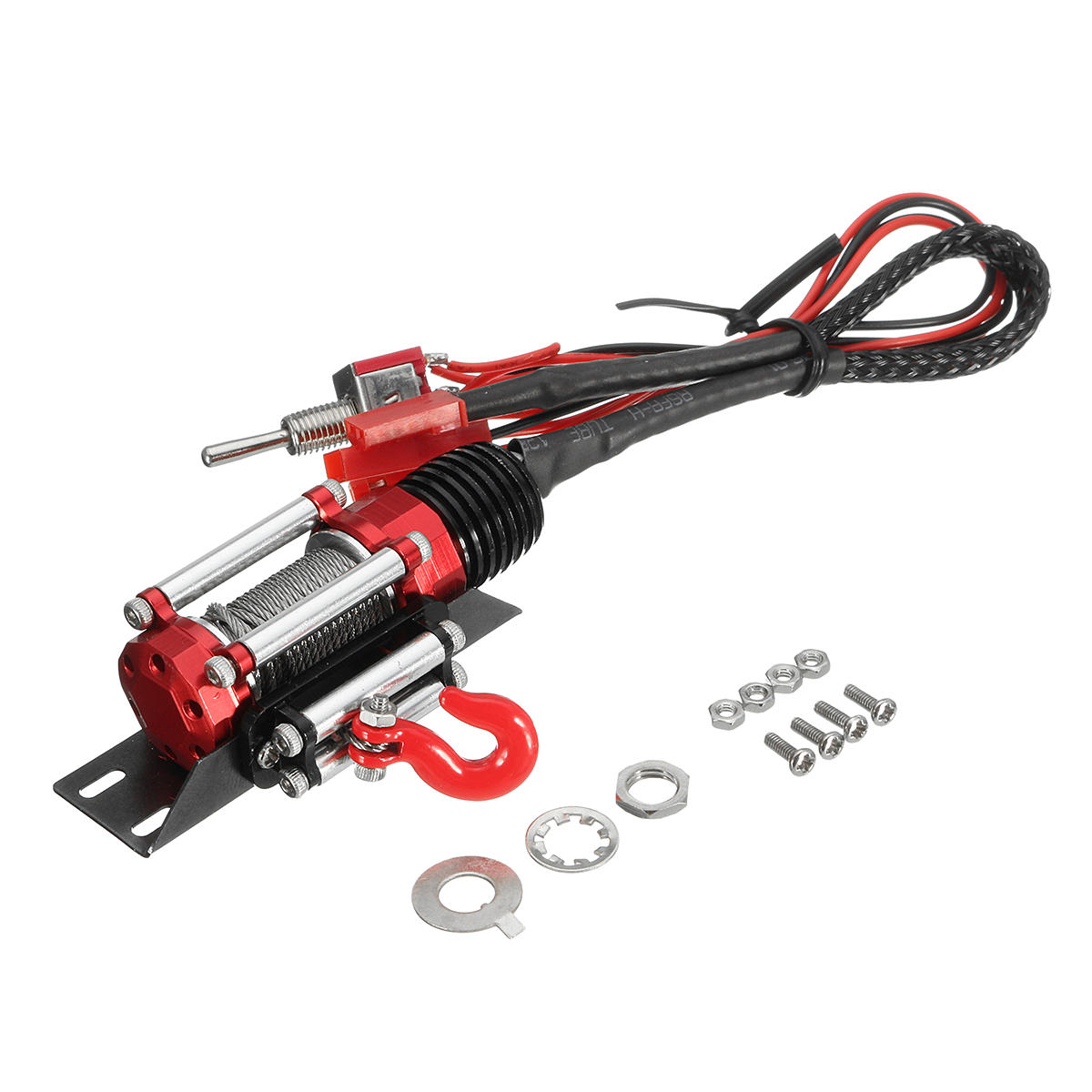Winch Traction System For 1/10 Axial SCX10 Remote Control Automatic Crawler RC Car Parts