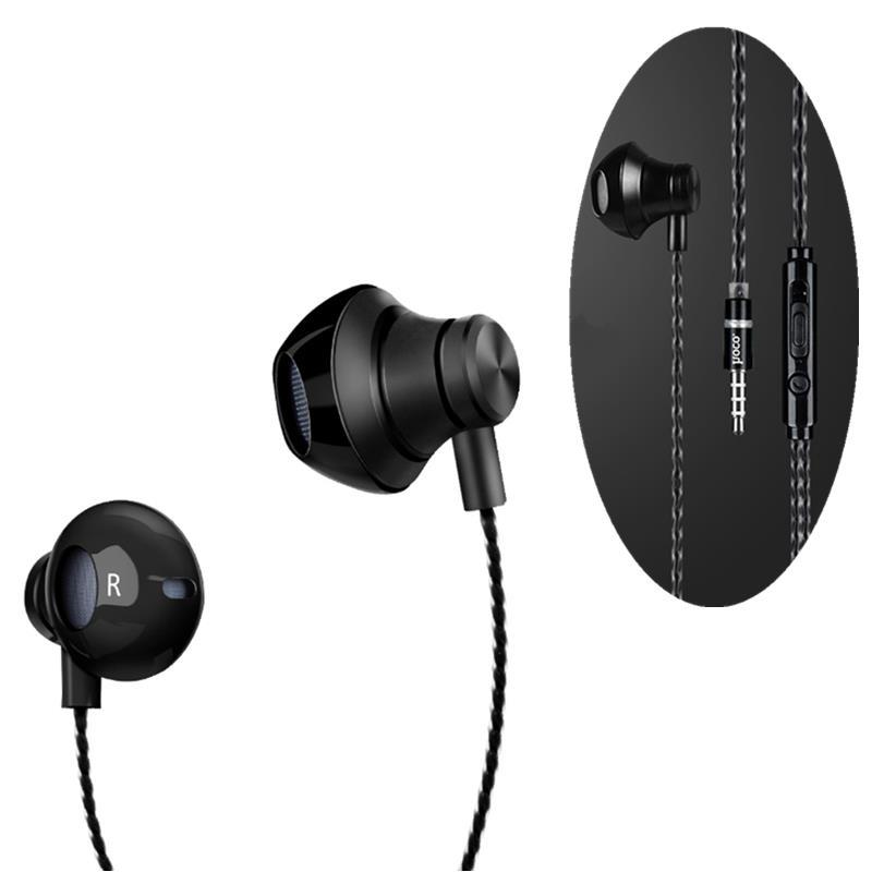 호코 M18 소음 차단 중저음 유선 3.5mm 이어폰 이어폰, Xiaomi iPhone 용 마이크 포함