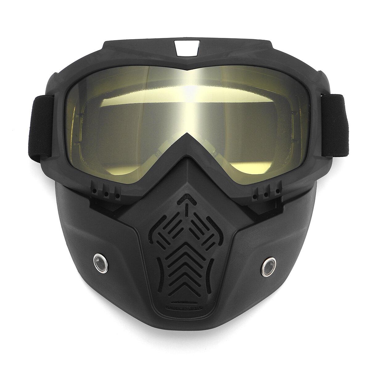 Motorcycle Helmet Mask Shield Goggles Open Face Bike Motocross Eyewear Motorbike
