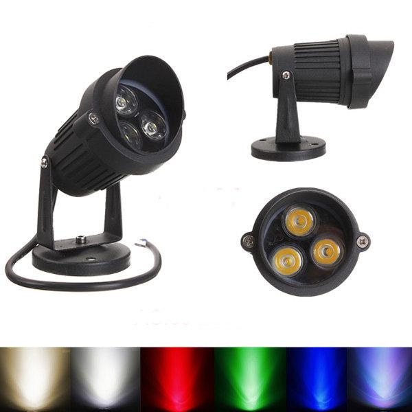 10W LED โคมไฟสปอร์ตไลท์พร้อมฝาครอบสำหรับ สวน Yard Path IP65 AC 85-265V
