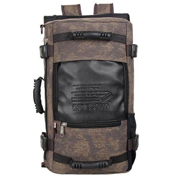 الرجال قماش خمر قدرة كبيرة حقيبة يد متعددة الوظائف الترفيه حقيبة سفر في الهواء الطلق