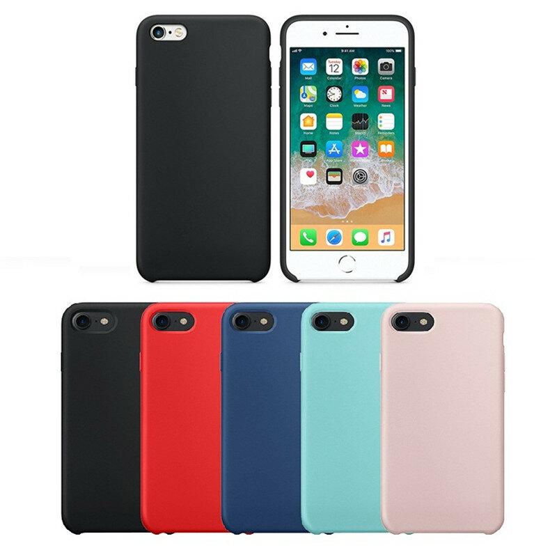 Bakeey Liquid Silicone Soft Case Microfiber Kudde Telefon Väska Bak Väska  till iPhone 6 Plus   87e45e022956e