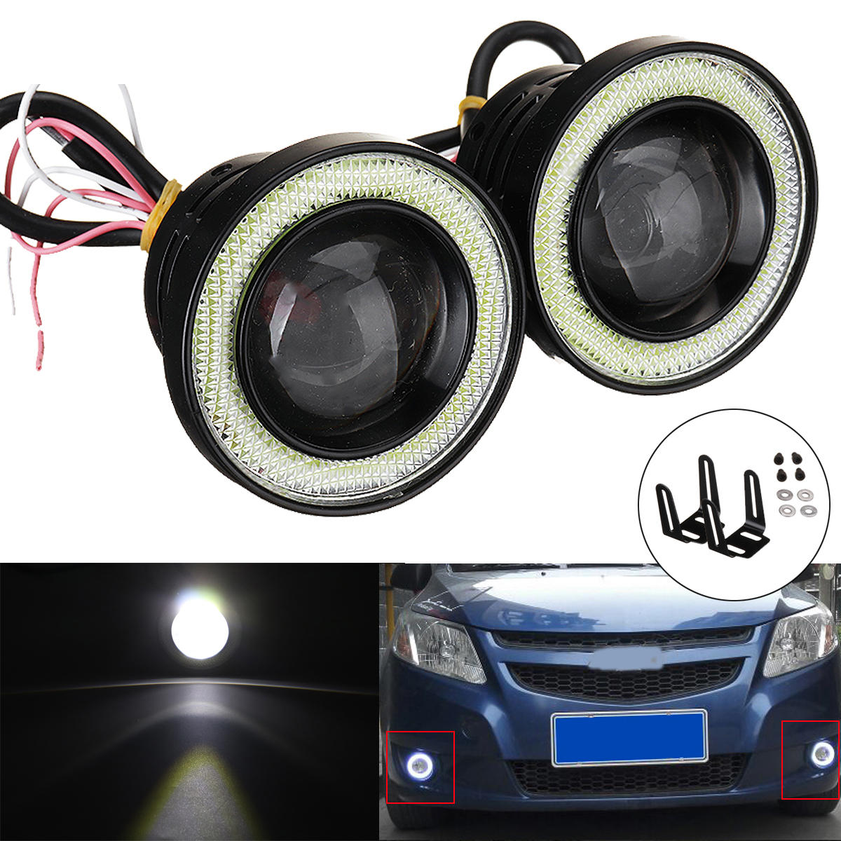 Fit For Ice Blue Color Led Style H11 H8 7.5w Auto Accessories Fog Driving Light Lamp Projector Lens Bulbs Parts Kit Automobiles & Motorcycles