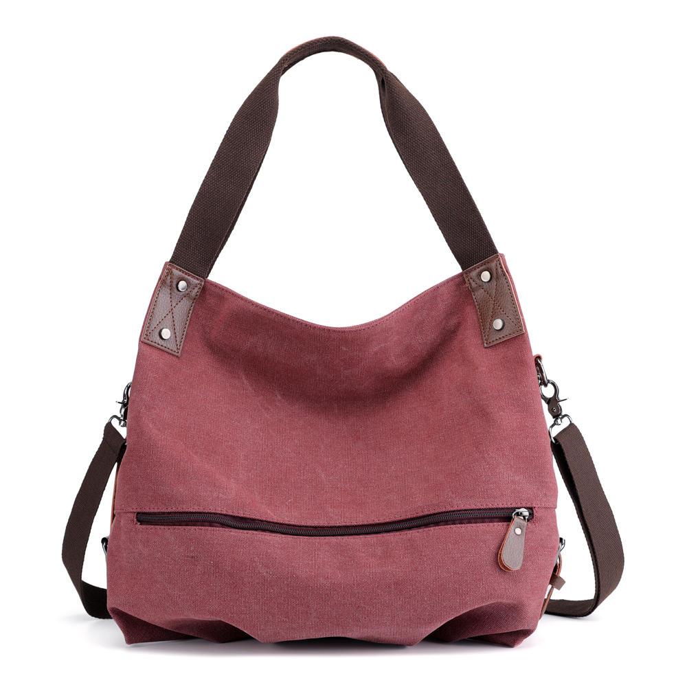 KVKY Women Canvas Tote Handbag Minimalist Fashion Summer Shopping Bag  Shoulder Crossbody Bag COD 20e99a8cedd5e