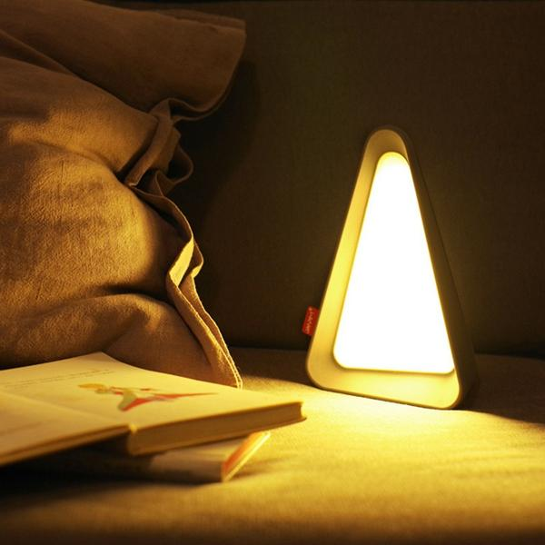Portable Usb Rechargeable Reversal Sensor Dimmable Led Night Light Table Bedside Reading Lamp Cod