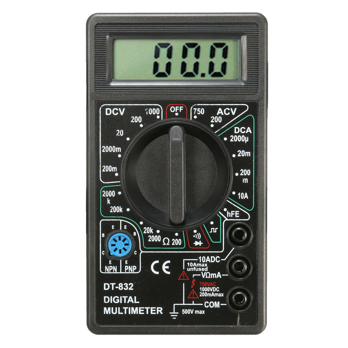 daniu dt832 digital lcd multimeter ohm voltage ampere. Black Bedroom Furniture Sets. Home Design Ideas