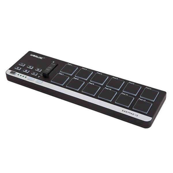 Worlde EasyPad 12 Mini USB แบบพกพา 12 ตัวควบคุม MIDI Pad Drum Pad