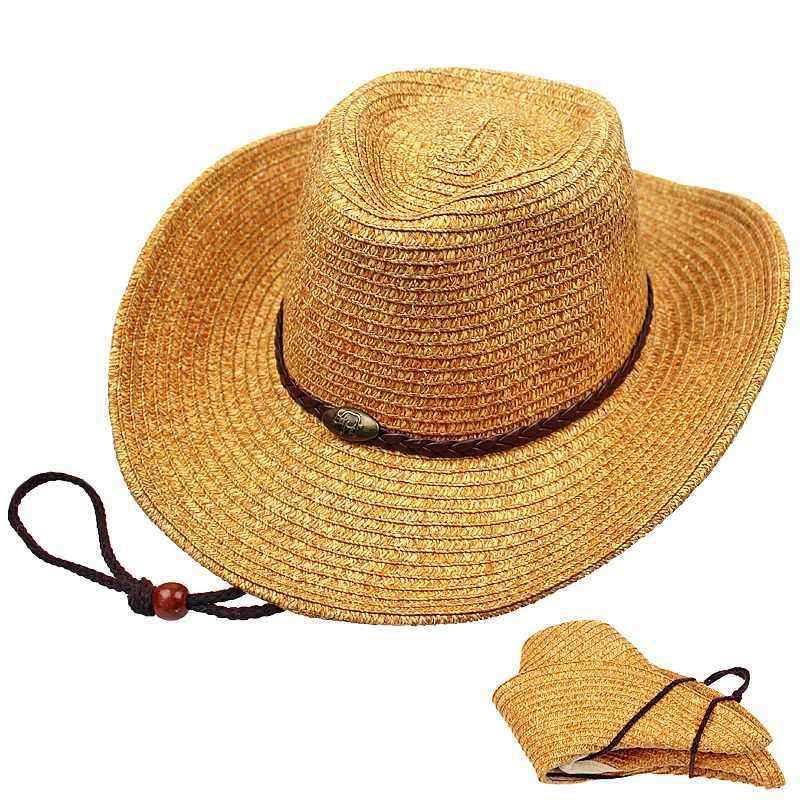 Other Warehouse. Send me a coupon on Messenger. Unisex Panama Folding Straw  Cowboy Hat Classic Western Beach Sun Wide Brim ... 06649ff07eb