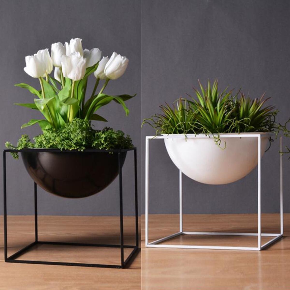 20cm Flower Pot Holder Metal Pot Stand Planter Garden Home Decorations Flower Display Rack COD